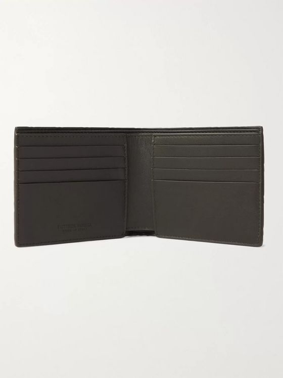 BOTTEGA VENETA Intrecciato Rubber and Leather Billfold Wallet