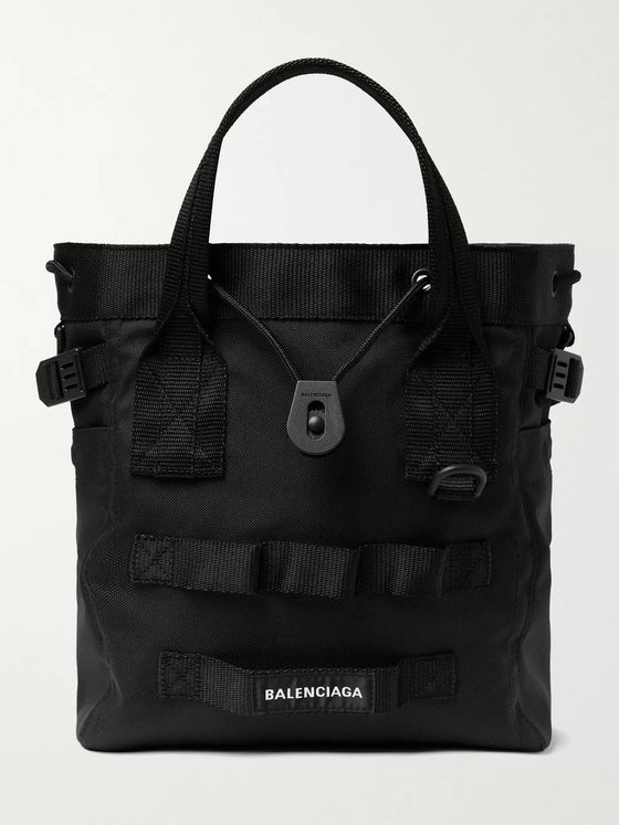 BALENCIAGA Army Nylon-Canvas Tote Bag