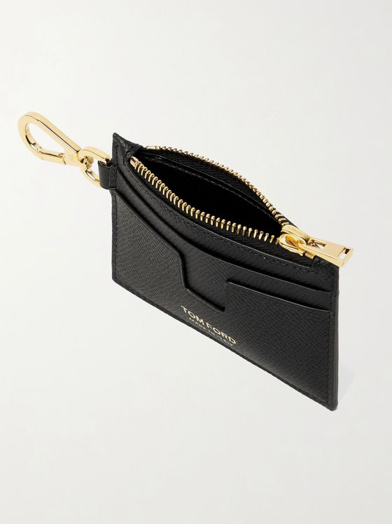 TOM FORD Full-Grain Leather Cardholder with Lanyard