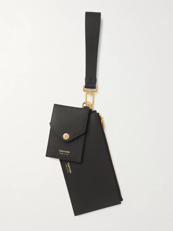 TOM FORD Full-Grain Leather Wallet and Cardholder with Wrist Strap