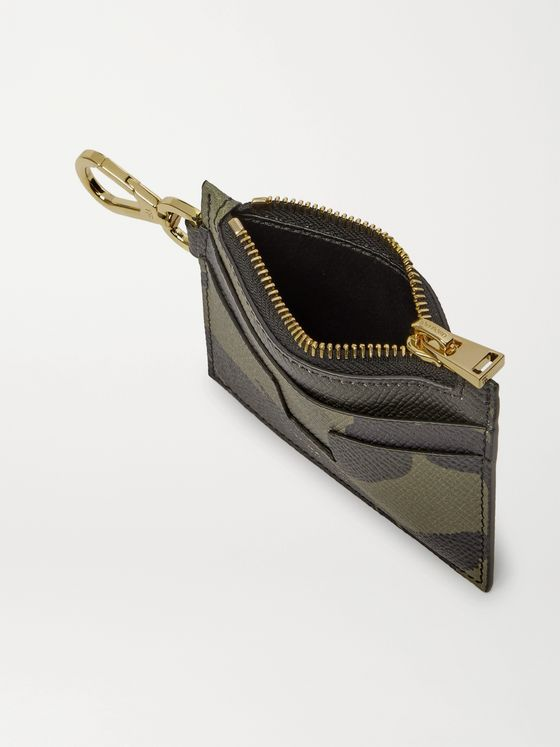 TOM FORD Camouflage-Print Leather Cardholder with Lanyard