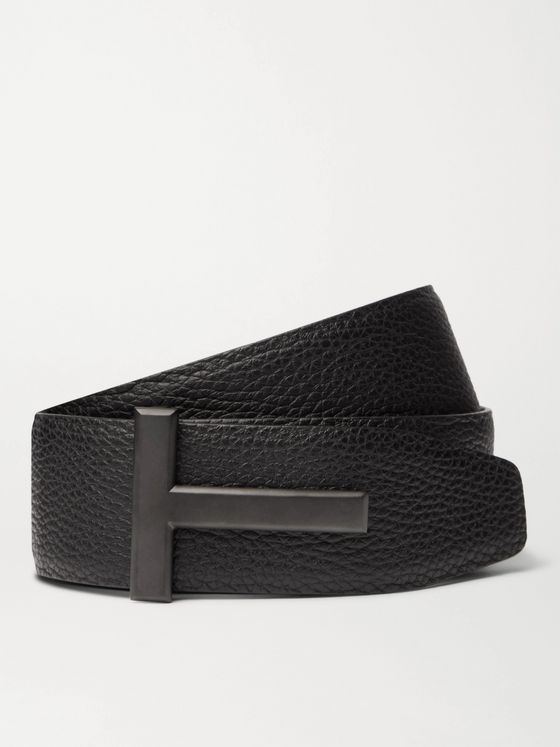 TOM FORD 4cm Full-Grain Leather Belt