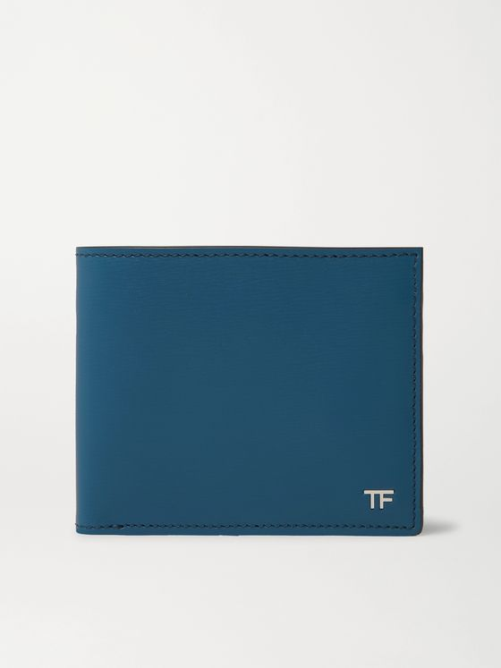 TOM FORD Logo-Appliquéd Textured-Leather Billfold Wallet