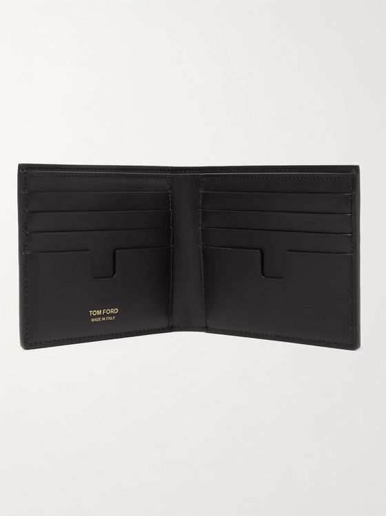 TOM FORD Camouflage-Print Full-Grain Leather Billfold Wallet
