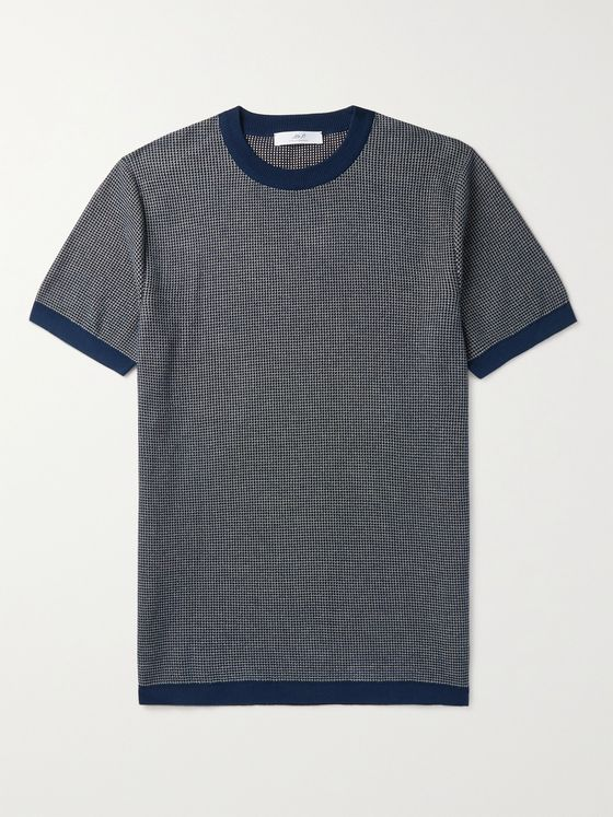 MR P. Mélange Knitted Cotton T-Shirt