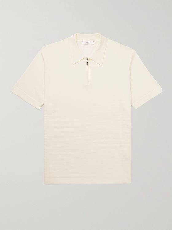 MR P. Cotton Half-Zip Polo Shirt