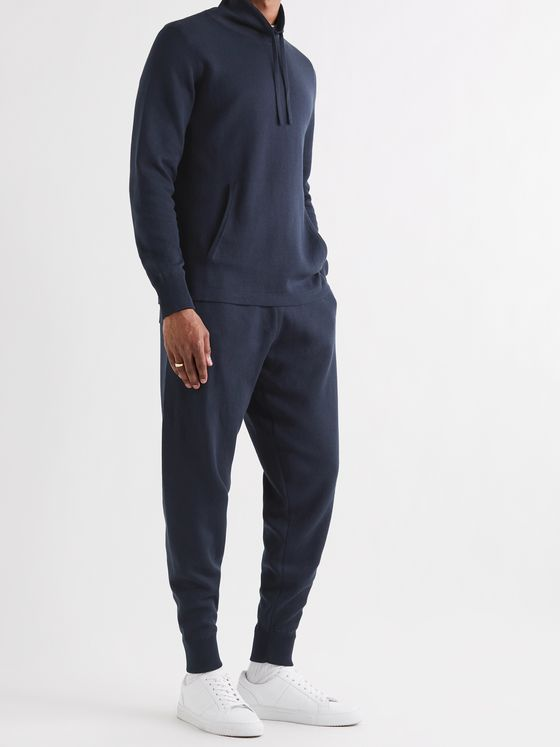 MR P. Tapered Mulberry Silk and Organic Cotton-Blend Sweatpants