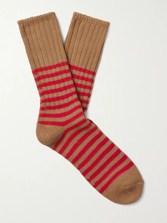 Thunders Love Marine Striped Recycled Cotton-Blend Socks