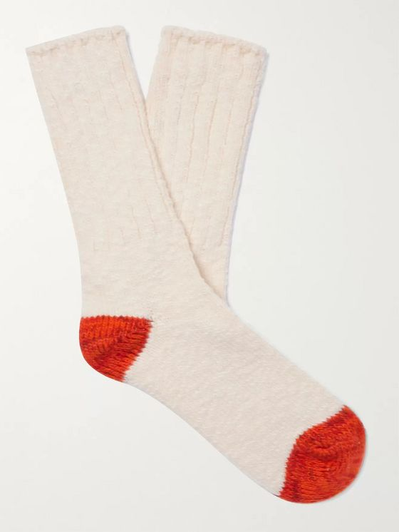 Thunders Love Flammé Ribbed Cotton-Blend Socks