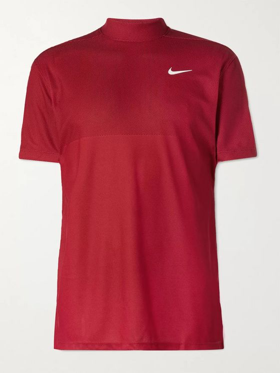 Nike Golf + Tiger Woods Dri-FIT Mesh Mock-Neck Golf T-Shirt