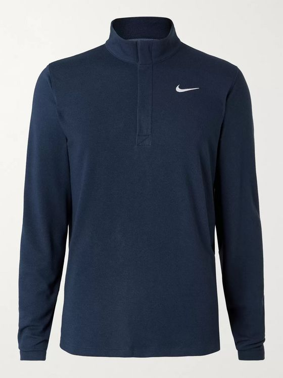 Nike Golf Dry Victory Logo-Print Dri-FIT Half-Zip Golf Top