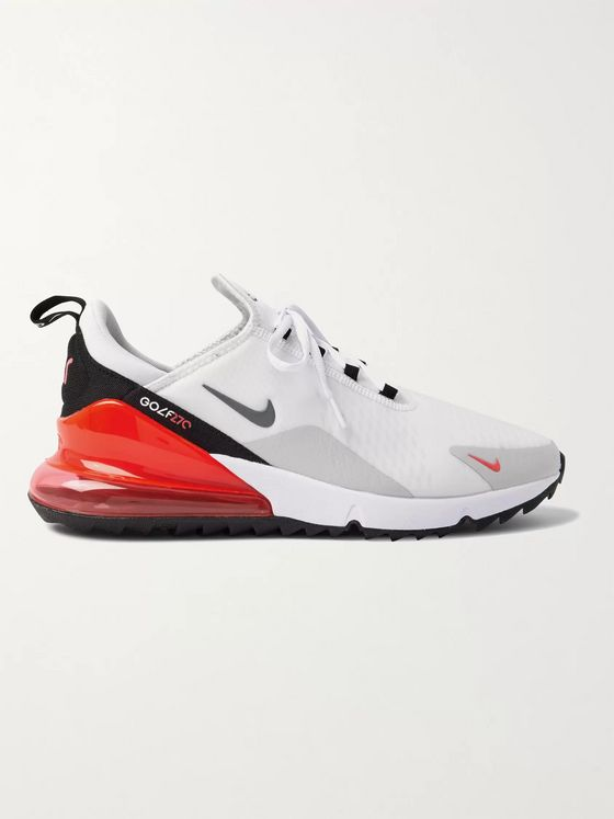 NIKE GOLF Air Max 270 G Rubber-Trimmed Coated-Mesh Golf Shoes