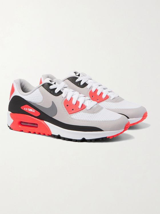 NIKE GOLF Air Max 90 G Coated-Mesh Golf Shoes