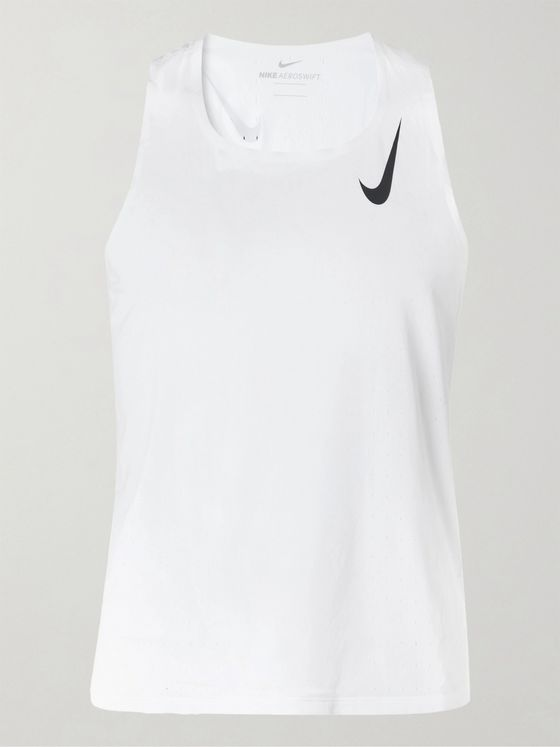 NIKE RUNNING AeroSwift Perforated Dri-FIT Tank Top