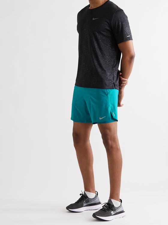 NIKE RUNNING Flex Stride 2-in-1 Dri-FIT Stretch-Shell Running Shorts