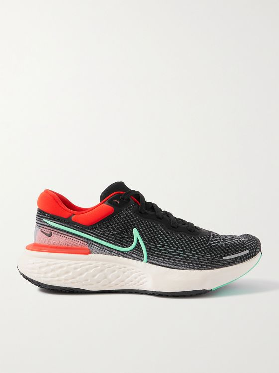 NIKE RUNNING ZoomX Invincible Run Rubber-Trimmed Flyknit Running Sneakers