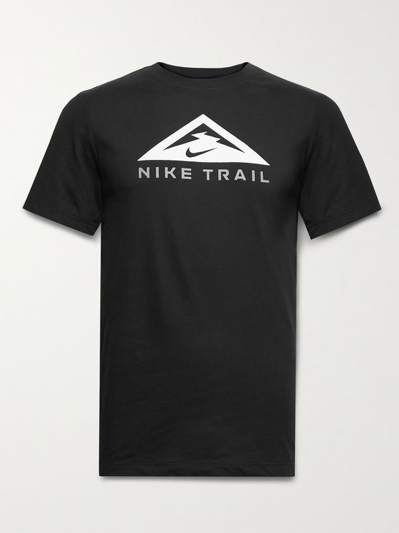 NIKE RUNNING Trail Logo-Print Dri-FIT Cotton-Blend Jersey T-Shirt
