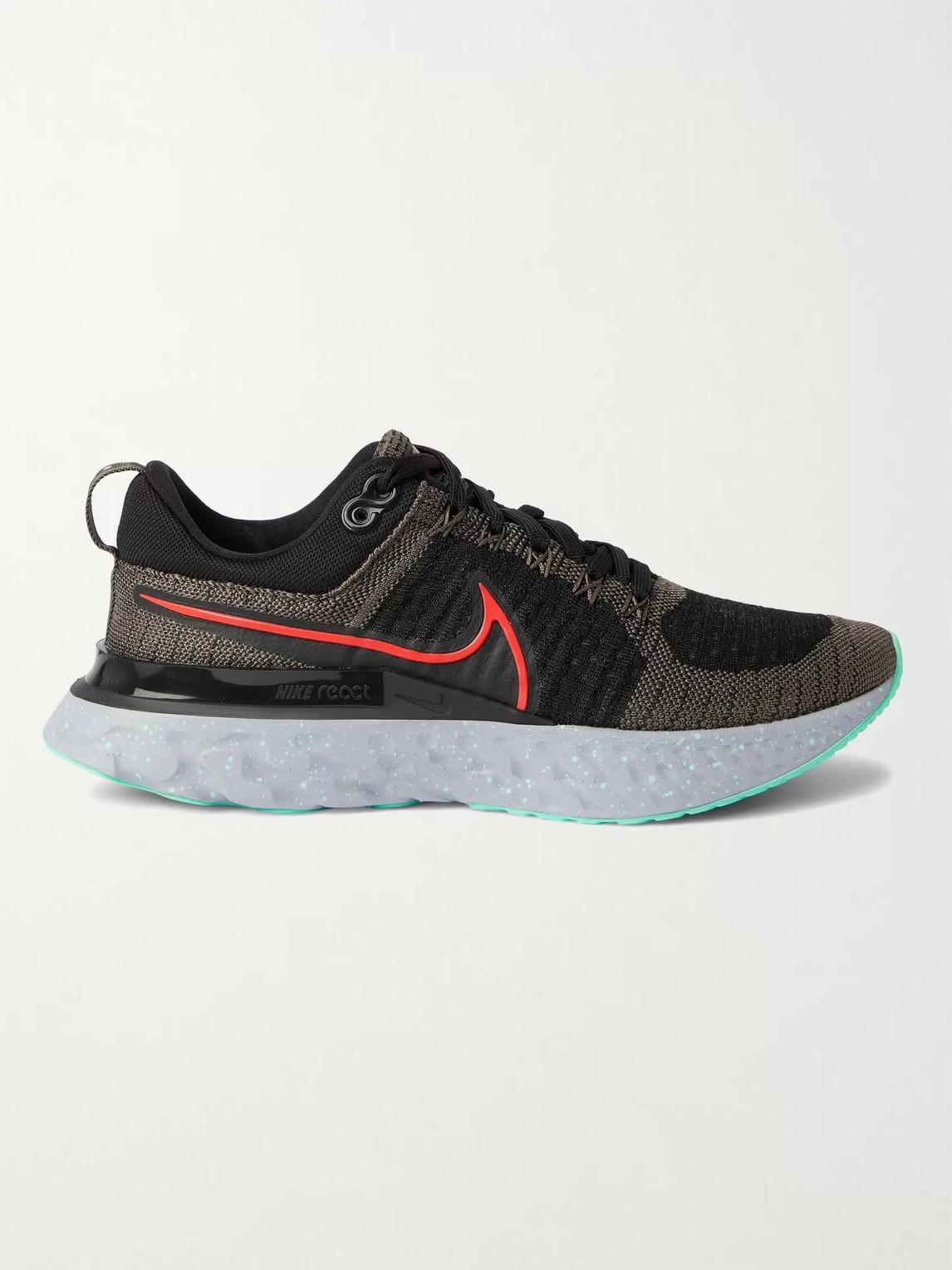 Nike React Infinity Run Flyknit 2 Men's Running Shoe (ridgerock) In Black