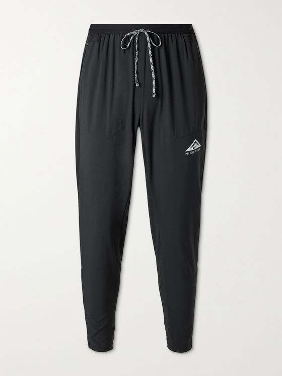 NIKE RUNNING Phenom Elite Tapered Logo-Print Dri-FIT Flex Track Pants