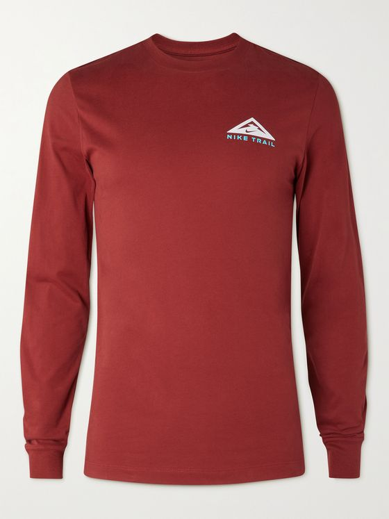 Nike Running Trail Logo-Print Dri-FIT T-Shirt