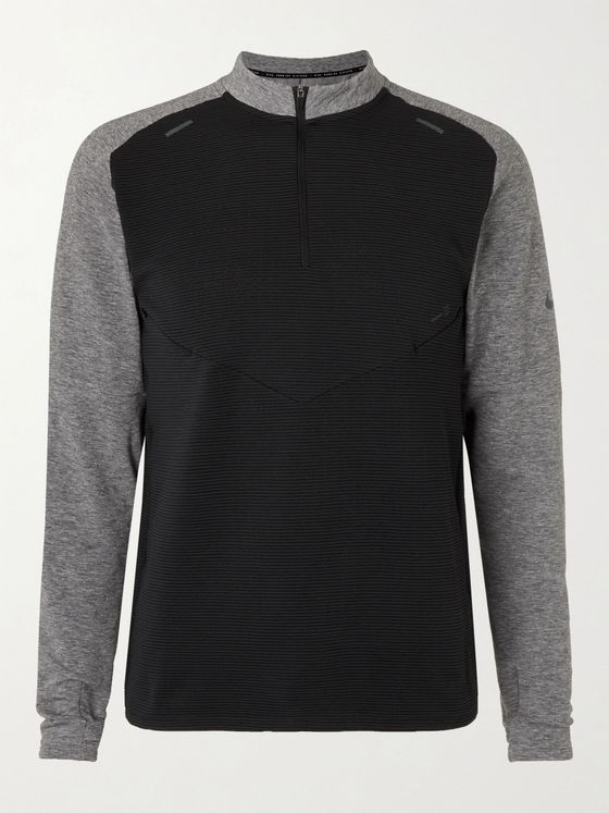 Nike Running Pinnacle Run Division Panelled Dri-FIT Half-Zip Top