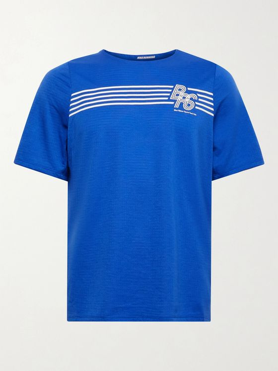 NIKE RUNNING Rise 365 BRS Printed Perforated Dri-FIT T-Shirt