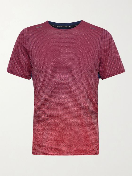 NIKE RUNNING Pinnacle Run Division Colour-Block Dri-FIT T-Shirt