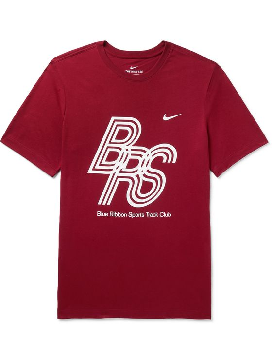 NIKE RUNNING Printed Dri-FIT Cotton-Blend Jersey T-Shirt