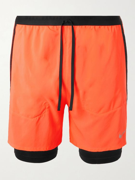 Nike Running Flex Stride Slim-Fit Layered Dri-FIT Shell Running Shorts