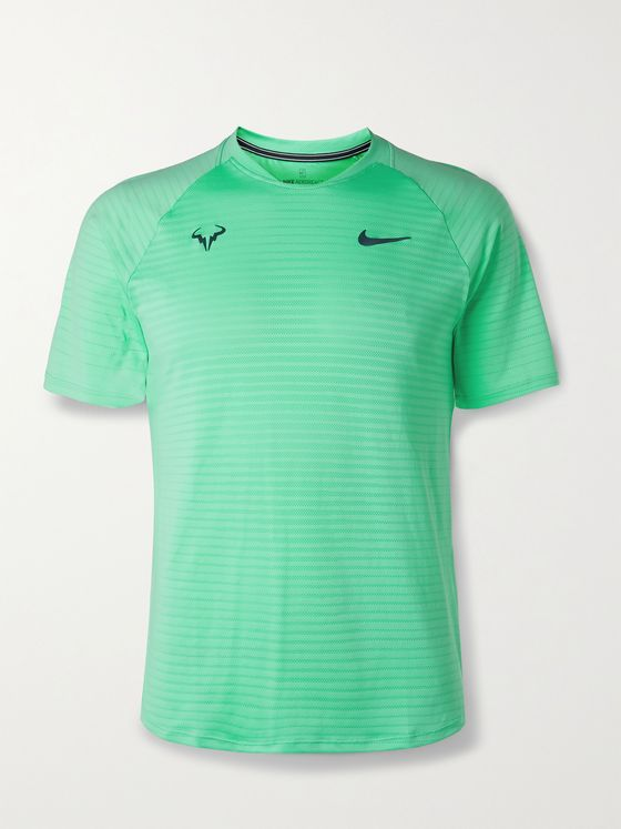 NIKE TENNIS NikeCourt Rafa Slam Slim-Fit AeroReact Open-Knit Tennis T-Shirt