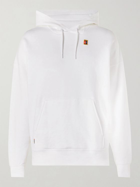Nike Tennis Logo-Appliquéd Loopback Cotton-Jersey Hoodie