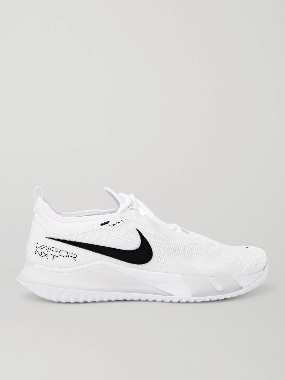 Nike Tennis - Nikecourt React Vapor Nxt Rubber-Trimmed Flyweave Tennis Sneakers - Men - White - 8.5