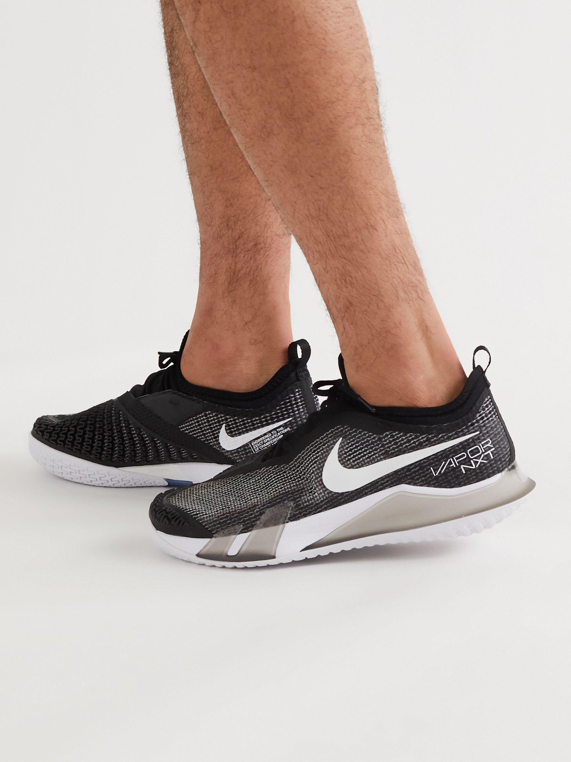 NikeCourt React Vapor NXT Rubber-Trimmed Mesh Tennis Sneakers