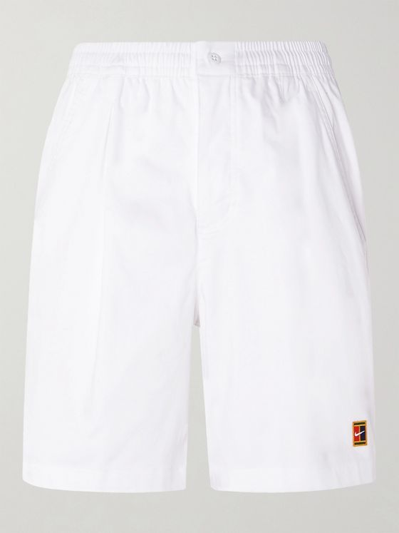 NIKE TENNIS NikeCourt Logo-Appliquéd Dri-Fit Tennis Shorts