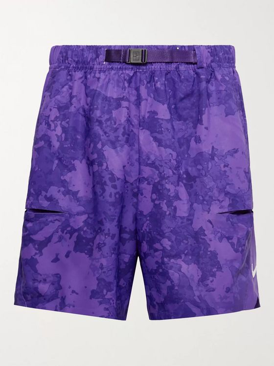 NIKE TENNIS NikeCourt Flex Slam Belted Shell Tennis Shorts