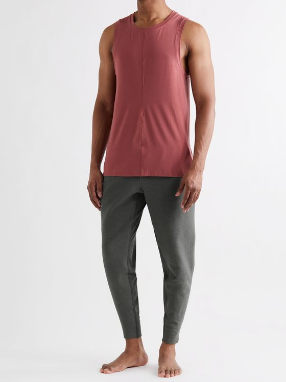NIKE TRAINING Tapered Dri-FIT Organic Cotton-Blend Jersey Yoga Sweatpants