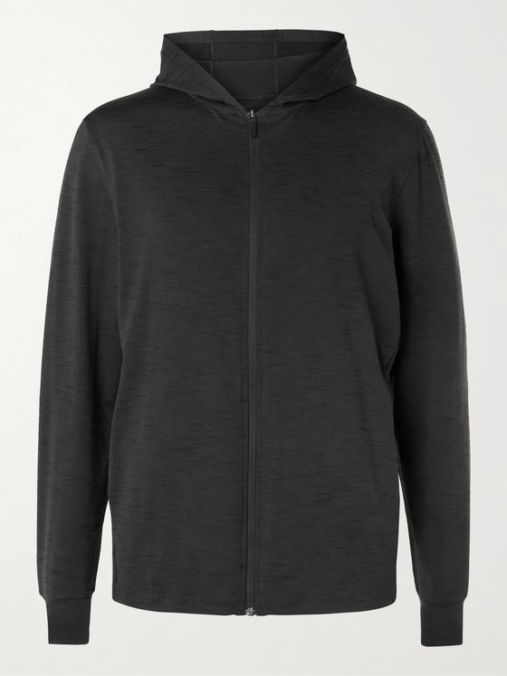 Nike Training Mélange Dri-FIT Jersey Zip-Up Yoga Hoodie