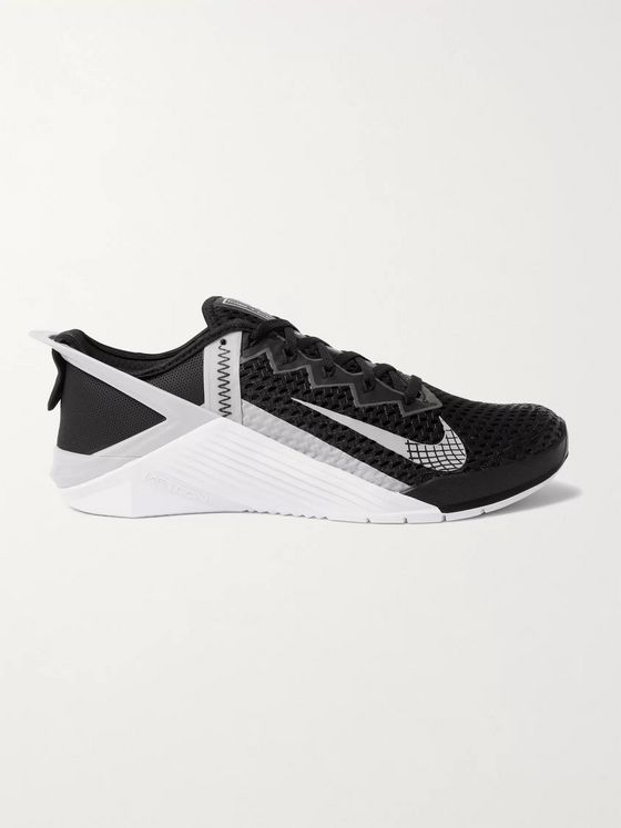 NIKE TRAINING Metcon 6 FlyEase Rubber-Trimmed Mesh Sneakers