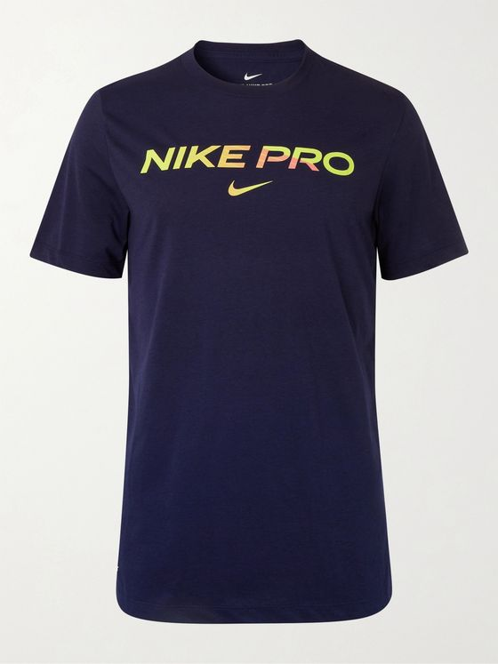 Nike Training Pro Logo-Print Dri-FIT T-Shirt