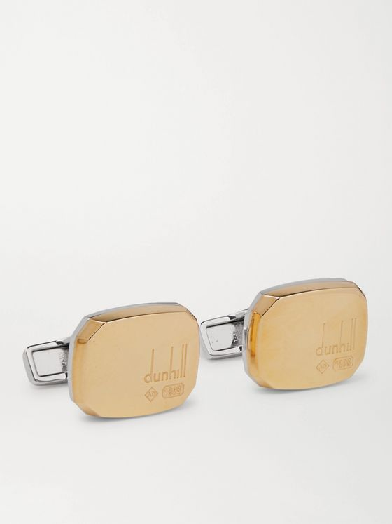 DUNHILL Gold-Plated Sterling Silver Cufflinks
