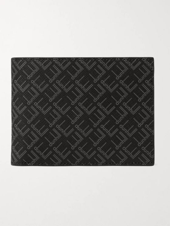 DUNHILL Logo-Print Coated-Canvas Billfold Wallet