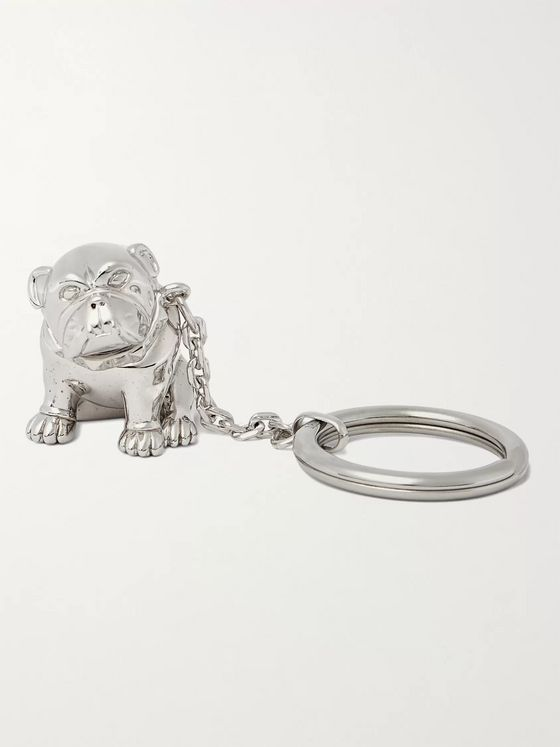 DUNHILL Bulldog Palladium-Plated Key Fob