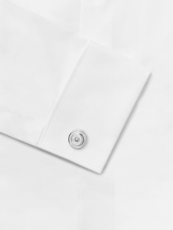 DUNHILL Logo-Engraved Sterling Silver Cufflinks