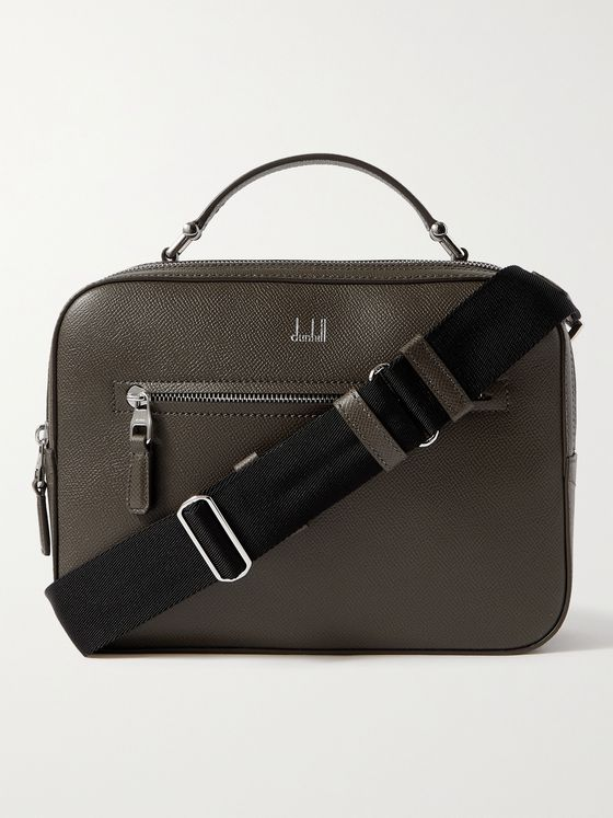 DUNHILL Cadogan Full-Grain Leather Messenger Bag