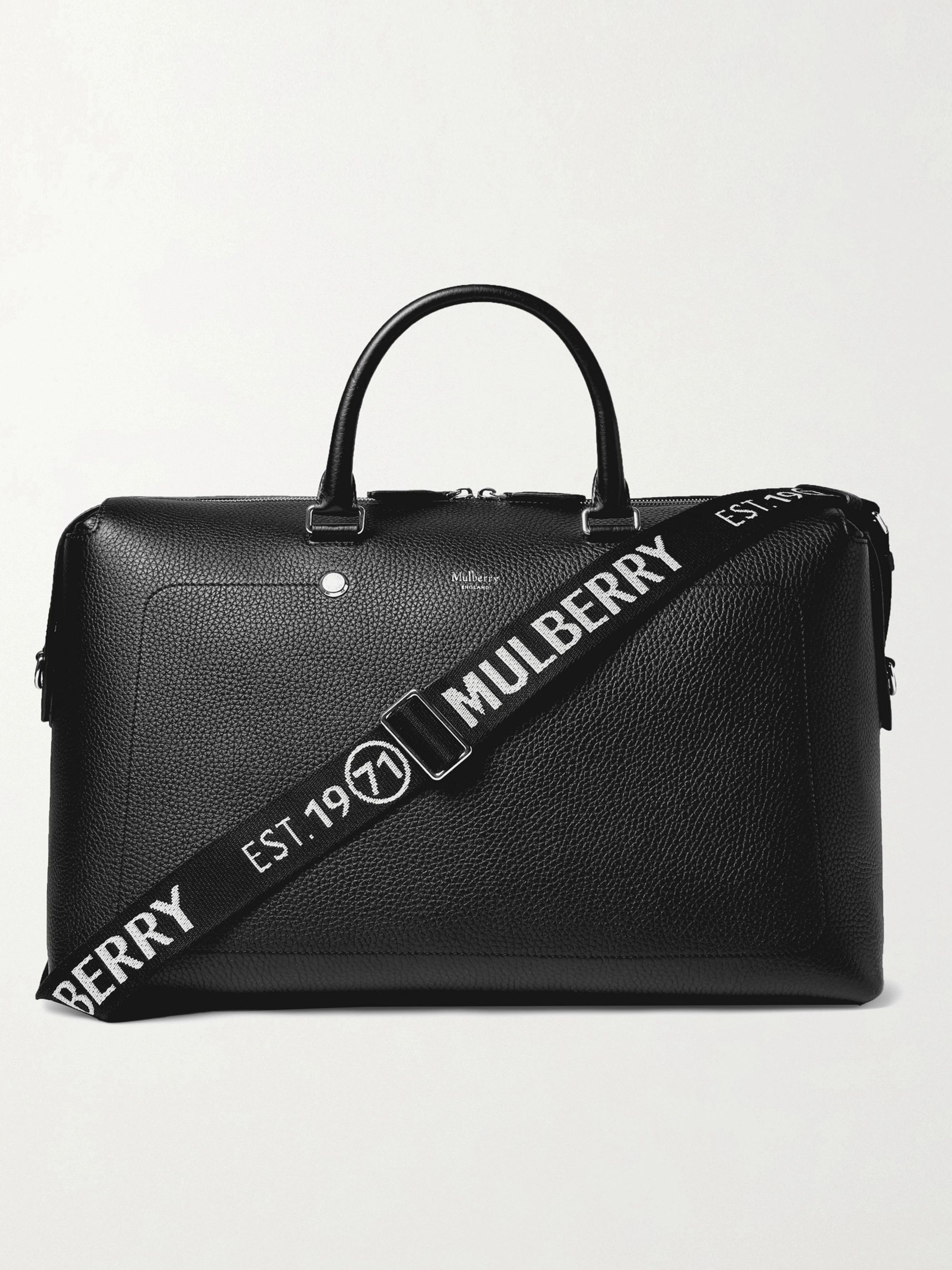 MULBERRY Logo-Trimmed Full-Grain Leather Holdall