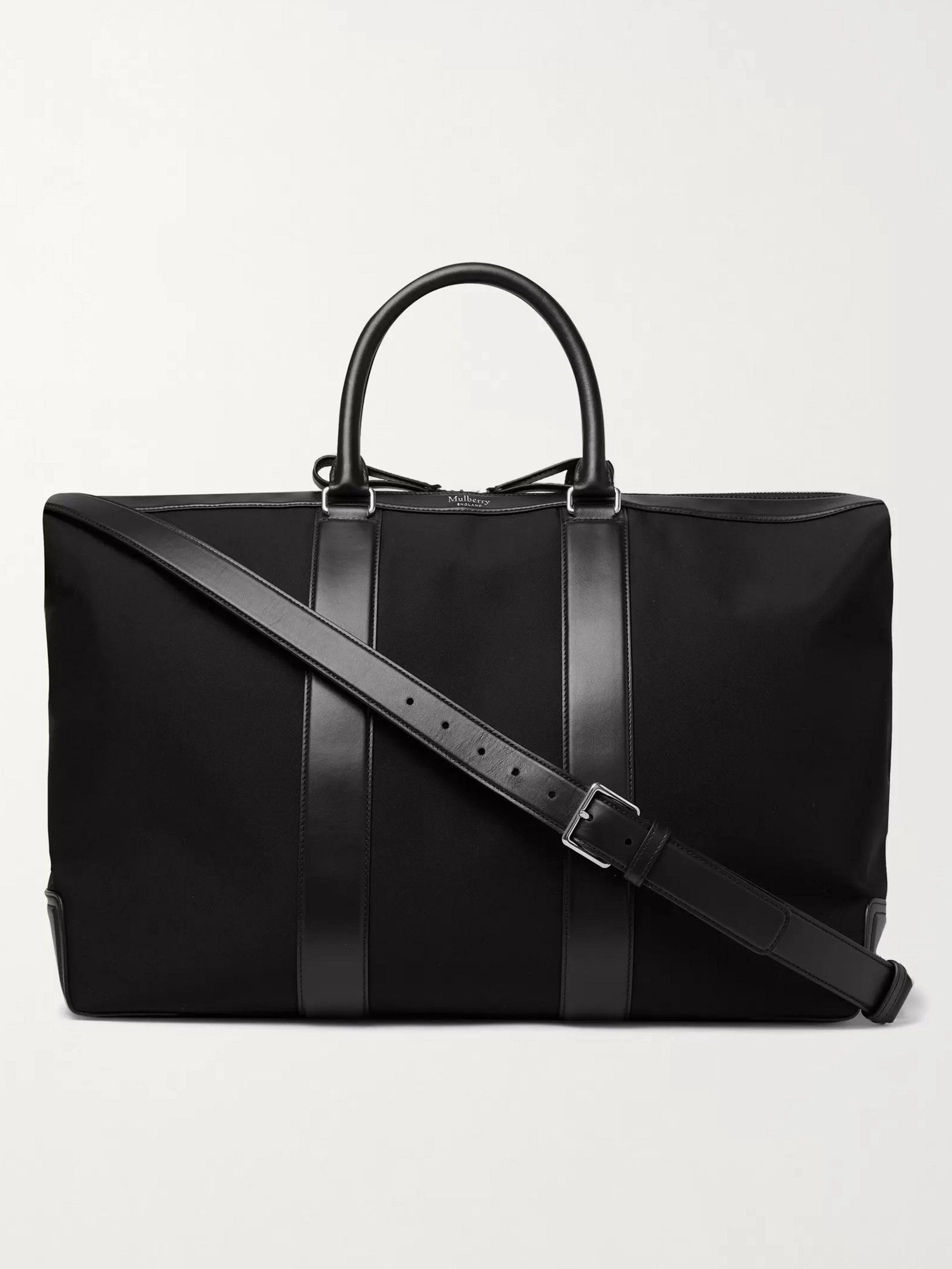 MULBERRY Leather-Trimmed Nylon Holdall