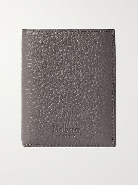MULBERRY Logo-Debossed Full-Grain Leather Trifold Wallet