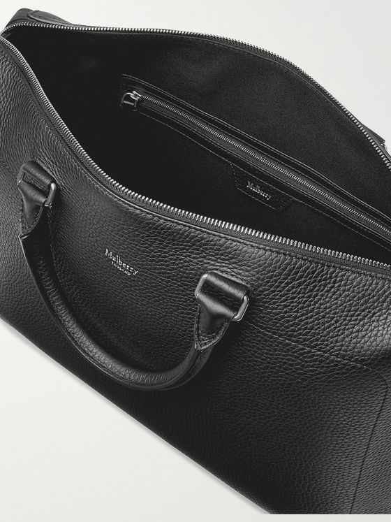 MULBERRY City Full-Grain Leather Briefcase