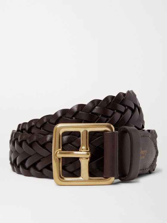 MULBERRY 3cm Woven Leather Belt