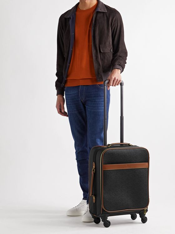 MULBERRY Pebble-Grain Leather Carry-On Suitcase